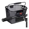 KlickFix Mini Bike Basket dense black